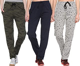 SHAUN Women's Regular Fit Trackpants (Pack of 3) (B07SRM4P42_Multicolored_Small)