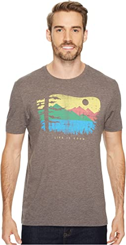 Life is Good - Mountain View Woods Cool Tee