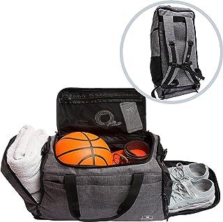 Bearformance® Ultimate Sportbag | Sporttasche mit Schuhfach & Nassfach mit Rucksackfunktion für Herren & Damen für Sport, ...