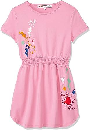 Marchio Amazon - RED WAGON Vestito con Macchie di Colore Bambina