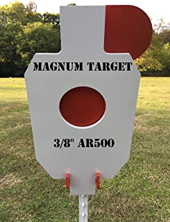 AR500 Steel Hostage Reactive IDPA 2/3 Shooting Target 3/8in 12X20 for T-Post