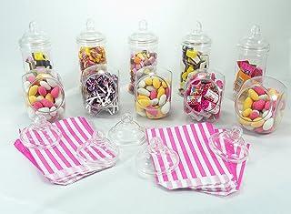 comprar comparacion Paquete de fiesta Sweet Shop de Britten & James®. 10 frascos de plástico cristalino con tapas de rosca estilo victoriano. ...