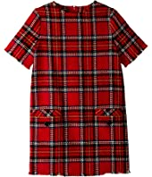 Oscar de la Renta Childrenswear - Short Sleeve Plaid Dress (Little Kids/Big Kids)