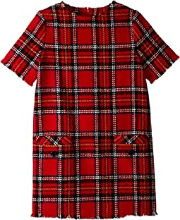 Short Sleeve Plaid Dress (Little Kids/Big Kids)