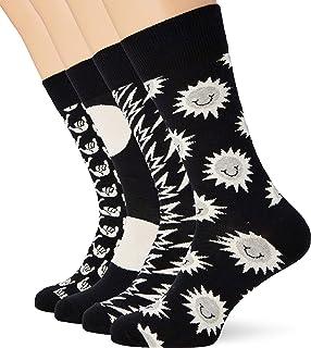 Black And White Gift Box Calcetines, Multicolor (Multicolour 920), 7/10 (Talla del fabricante: 41-46) (Pack de 4) para Hombre