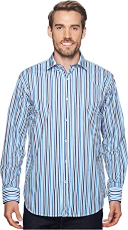 Shaped Fit Striped Woven Shirt