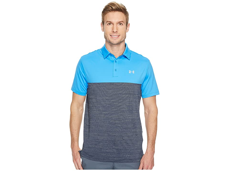 Under Armour Golf Playoff Polo Blocked (Mako Blue/Academy/Overcast Gray) Men