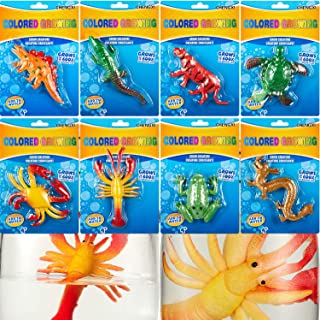 Outus 8 Pieces Growing Animal Creature Expandable Sea Creature Set Magic Giant Grow Water Animal Grow in Water Party Suppl...