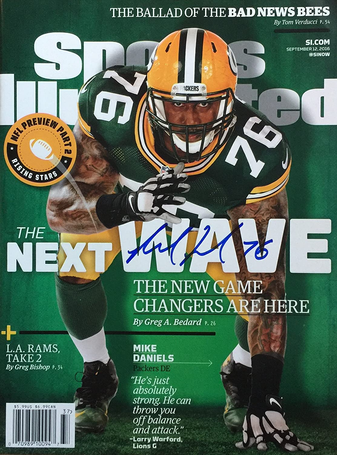 Department store Mike Daniels Cheap mail order sales GREEN BAY PACKERS autographed Illustrated ma Sports