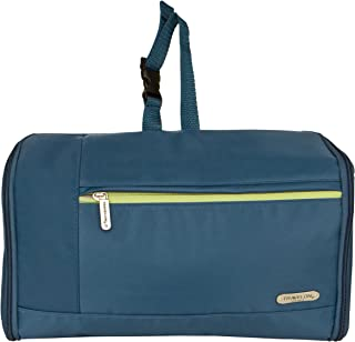 Travelon Flat-out Toiletry Kit Steel Blue, 9.25 x 7 x 4.25