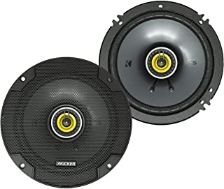 KICKER CSC65 CS Series 6.5 Inch 300 Watt 4 Ohm 2-Way Car Audio Coaxial Speakers System with Polypropylene Cone, PEI Tweete...
