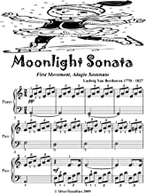 Moonlight Sonata First Movement Easy Piano Sheet Music Tadpole Edition