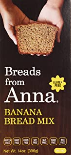 Breads from Anna, Banana Bread Mix, Gluten yeast soy rice corn dairy and nut free, 14 oz.