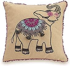 Vera Bradley Dream Tapestry Decorative Pillow, Elephant 18X18'', Linen