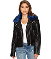 Members Only - Blue Fur Rocker Jacket