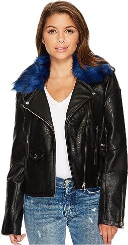 Members Only - Blue Fur Rocker Jacket
