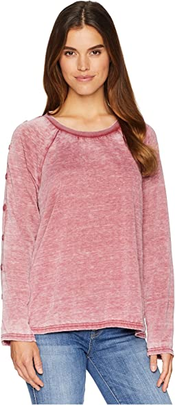 Mutual Feelings Burnout Fleece Top