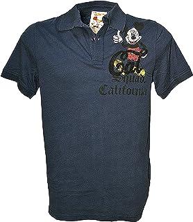 Mickey Mouse - Camiseta de manga corta con diseño de Mickey Mouse, color azul, para hombre YD067TSM