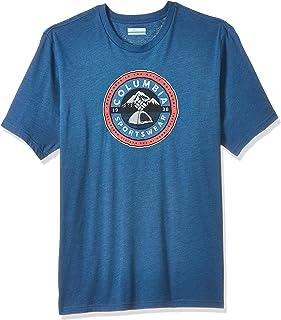Columbia Men's Brightwoods Basin Short Sleeve T-Shirt, (Impulse 483), Medium
