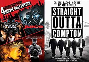 Urban Hip Hop Roots Movie DVD Mega Rap Pack: 4 Urban Rap Star Collection (Hustle & Flow/ Juice/ Tupac Resurrection/ Get Rich Or Die Tryin') + Straight Outta Compton (DVD BUNDLE)