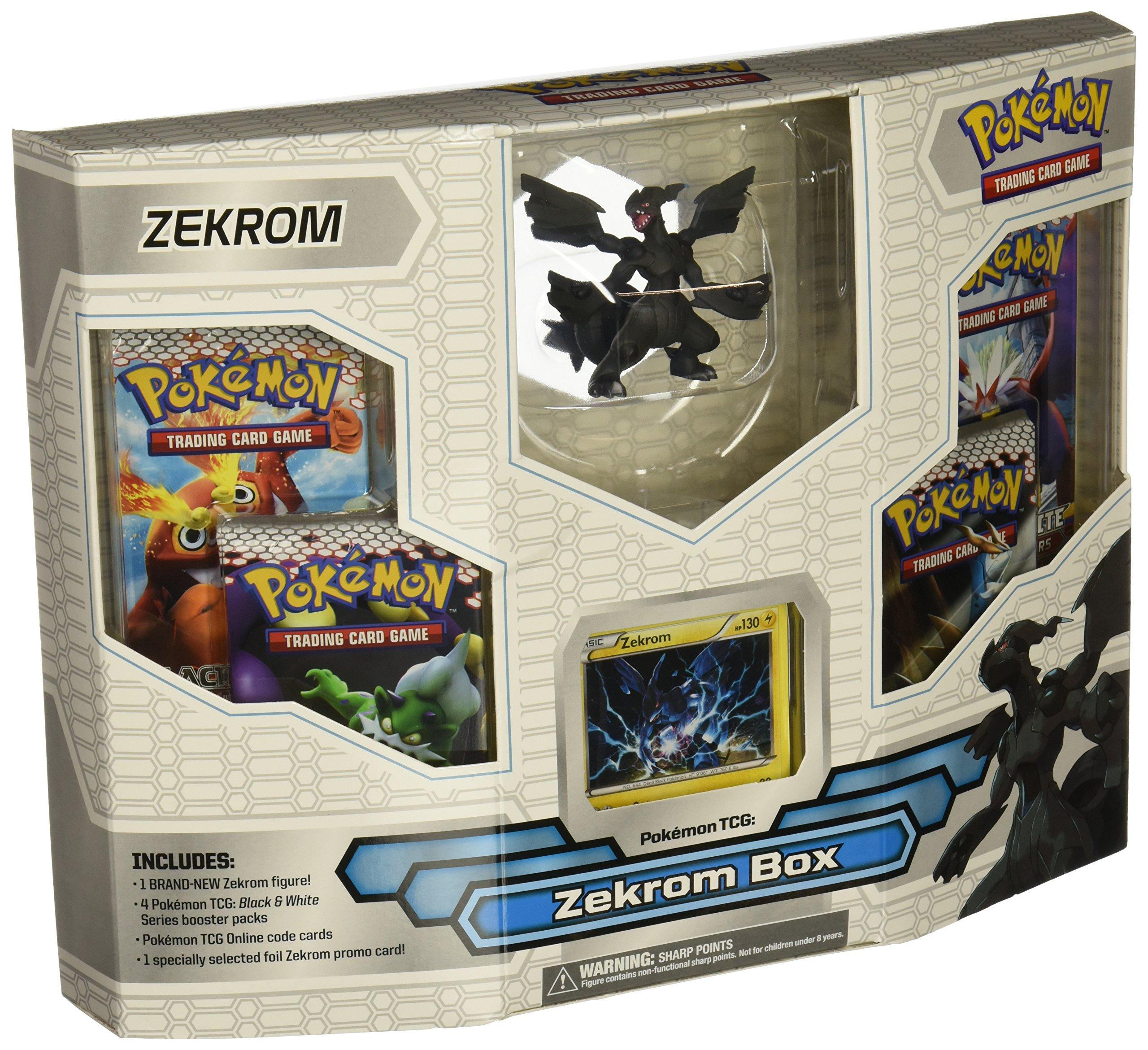 Pokemon Black White Card Game ZEKROM Box 4 Booster Packs, 1 Holo Promo Card 1...: Amazon.es: Juguetes y juegos