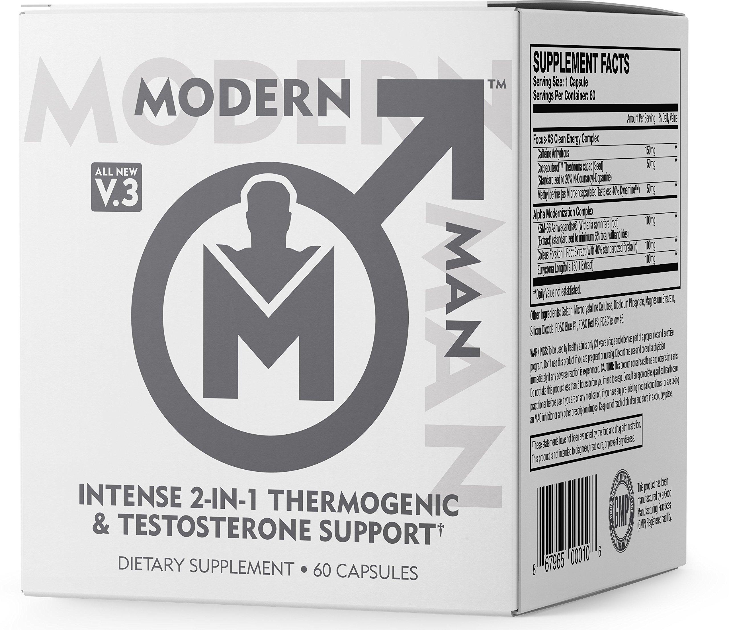 Modern Man Testosterone Thermogenic Supplement
