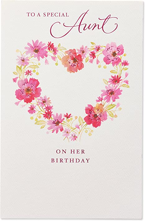 American Greetings Birthday Card for Aunt (Floral)