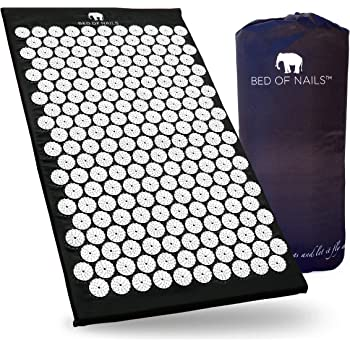 Bed of Nails The Original Acupressure Mat for Pain and Relaxation (Black)
