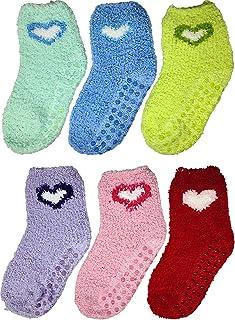 Debra Weitzner - Calcetines de 6 pares para niños con pinzas, antideslizantes