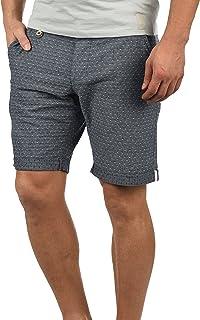 Blend Sergio Herren Chino Shorts Bermuda Kurze Hose Mit Rauten-Muster Aus 100% Baumwolle Regular Fit