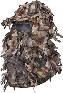 North Mountain Gear Hunting Camouflage Leafy Hat with Full 3D Face Mask Ghillie Paintball Airsoft