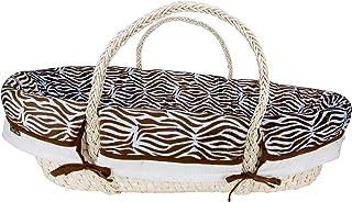 Trend Lab Moses Basket Set, Zebra Print Blue