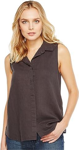 Garment Dye Linen Sleeveless Top
