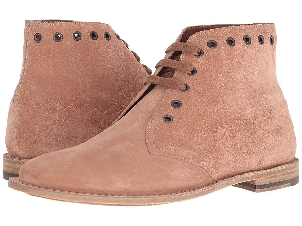 Bottega Veneta Suede Ankle Boot (Dahlia) Men