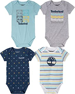 Timberland Baby Boys` 4 Pieces Pack Bodysuits