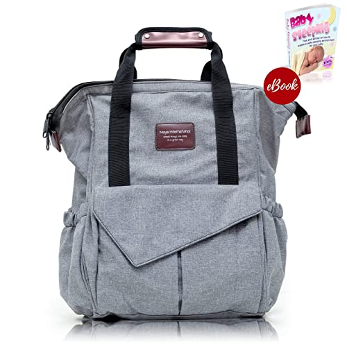 SALE-Diaper Bag Backpack For Mom   Dad, Multi-Functional Nappy Bag With 22a7935939