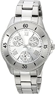 Invicta Women's Angel Quartz Watch with Stainless-Steel Strap, Silver, 18 (Model: 21682)