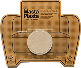 MastaPlasta Self-Adhesive Patch for Leather and Vinyl Repair, Small Circle, Suede Beige - 2 Inch