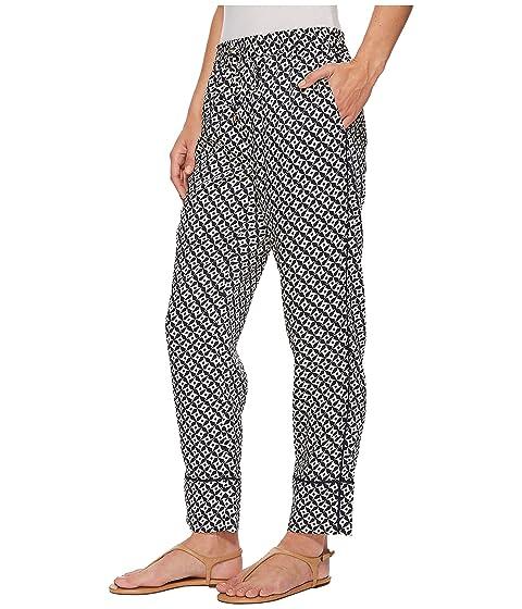 LAUREN Ralph Lauren Geo-Print Twill Pants Navy/Cream Sale For Cheap Best Sale Cheap Price jjxhgUP