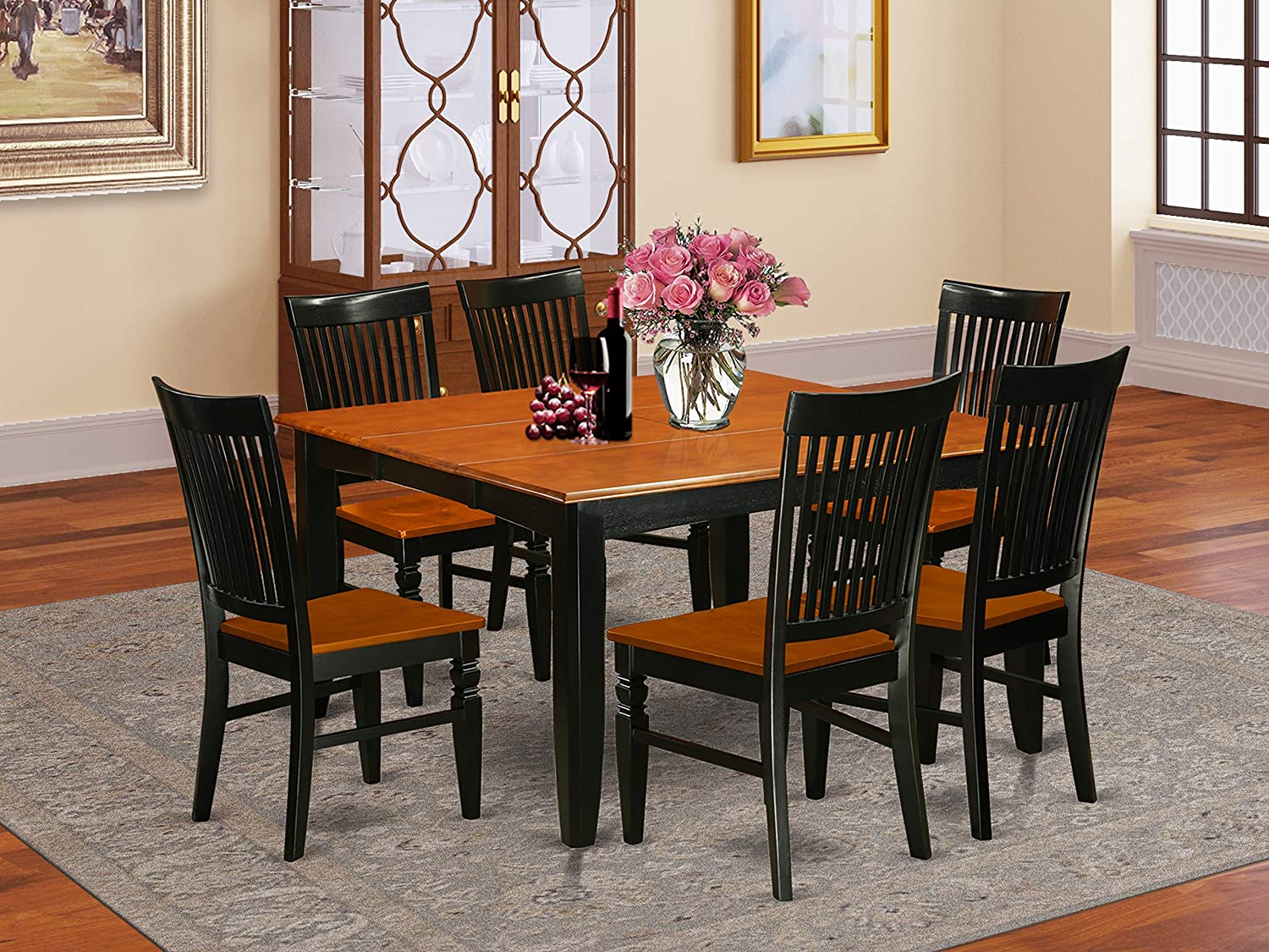 7 Pc Kitchen table set with 2021 Table Fort Worth Mall Dining a and 6 Chairs