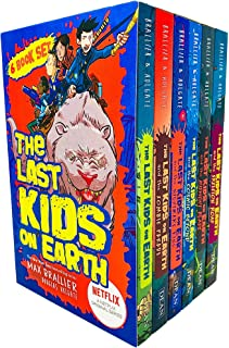The Last Kids On Earth 6 Books Collection Set by Max Brallier (Last Kids On Earth, Zombie Parade, Nightmare King, Cosmic Beyond, Midnight Blade & Skeleton Road)