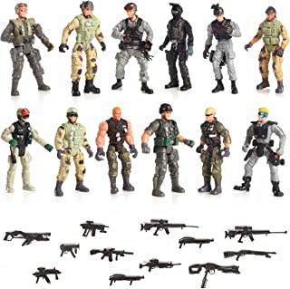 """IQ Toys 12 Piece Set Special Forces with Weapons 6"""" Action Figures"""