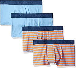 Fruit of the Loom Men's Cotton Stretch Boxer Brief Low Rise Trunk (Packs of 2 and 4)