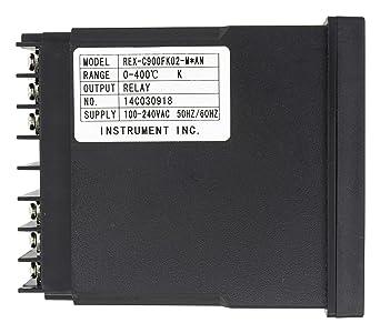4-20mA Output 1 Alarm REX-C900 96x96 AC 100-240V thermocouple RTD Input Digital PID Temperature Controller
