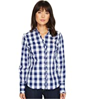 U.S. POLO ASSN. - Long Sleeve Stretch Poplin Ruffled Edge Shirt