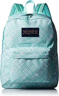 JanSport Womens Classic Mainstream Superbreak Backpack - Aqua Dash Jagged Plaid / 16.7
