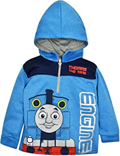 Thomas The Tank Engine Boys' Fleece Hoodie Pullover Sweatshirt with Zipper, Blue