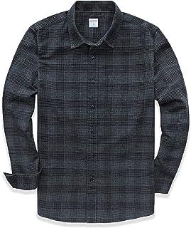 Dubinik - Camisa de Manga Larga para Hombre, diseño de Cuadros