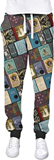 Rainbow Rules Wizarding Books Harry Potter Inspired Cuffed Joggers Sweatpants Jogging Bottoms