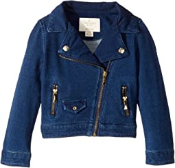 Kate Spade New York Kids - Knit Moto Jacket (Toddler/Little Kids)